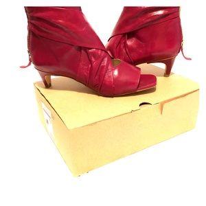 Zara open toe ankle boots